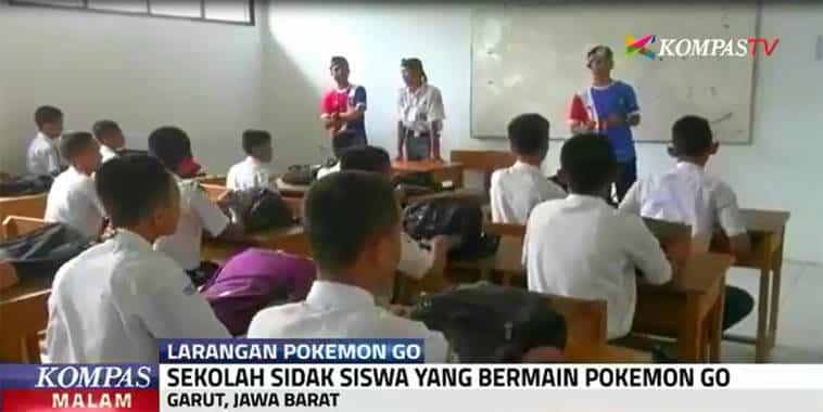 sekolah sidak siswa yang bermain pokemon go