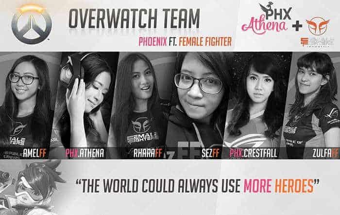overwatch phoenix female fighters