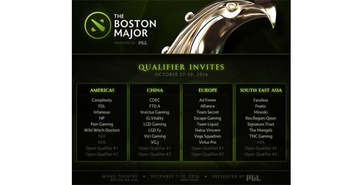 the boston major qualifier invite