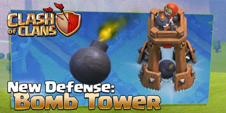 clash of clans bomb tower