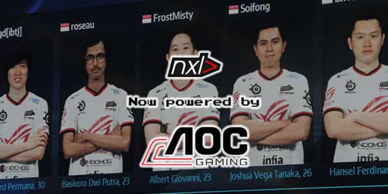 Perkuat Market di Indonesia, AOC Monitor Rekrut Team NXL> Jadi Official Gaming Team