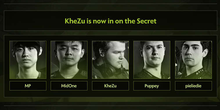 team secret new roster