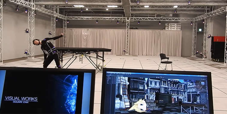 final fantasy motion capture studio