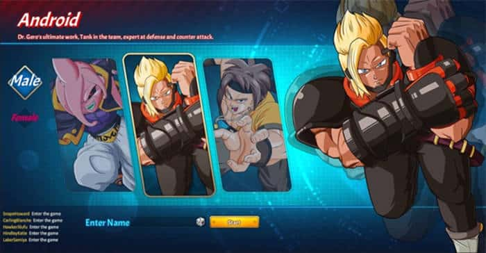 dragon ball indonesia android characters