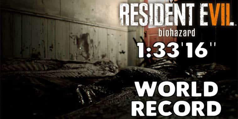 resident evil 7 biohazard world record speedrunners 1 33 16