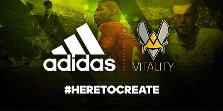 Adidas Jadi Sponsor Resmi Tim eSports Vitality