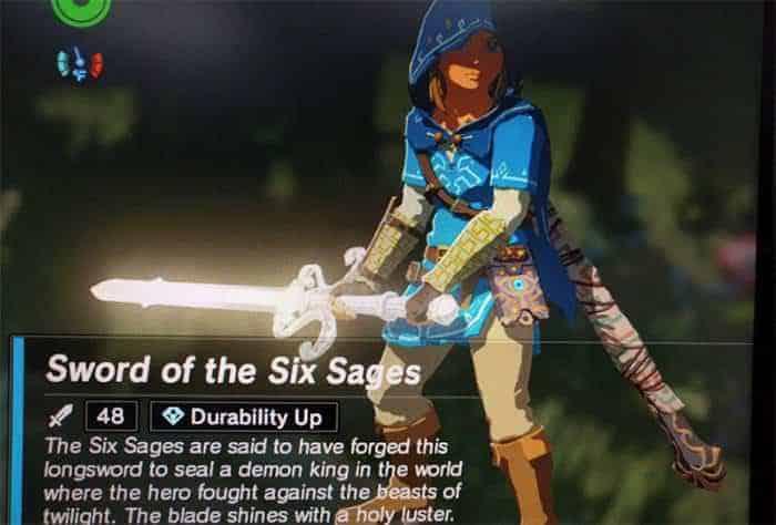 legend of zelda breath of the wild sword of the six sages