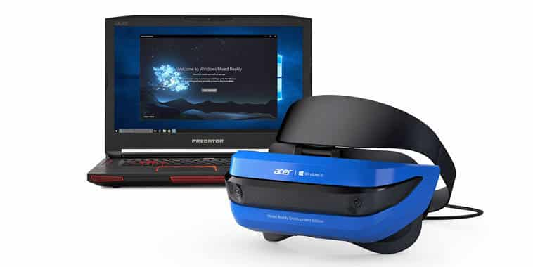 microsoft acer mixed reality headset