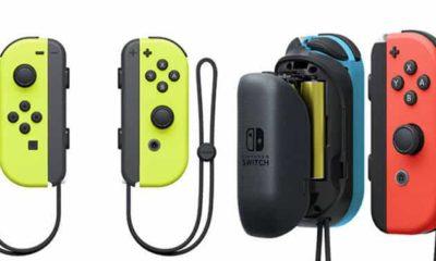 nintendo switch joy con neon yellow