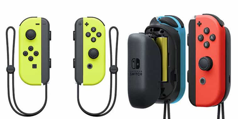 nintendo switch joy con neon yellow