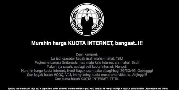 website telkomsel hacked internet mahal