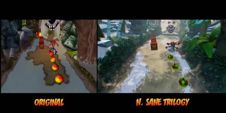 crash bandicoot n sane trilogy comparison