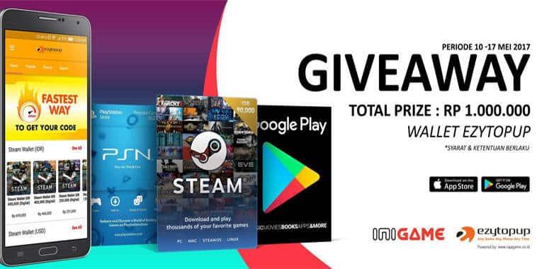 giveaway 1000000 wallet ezytopup