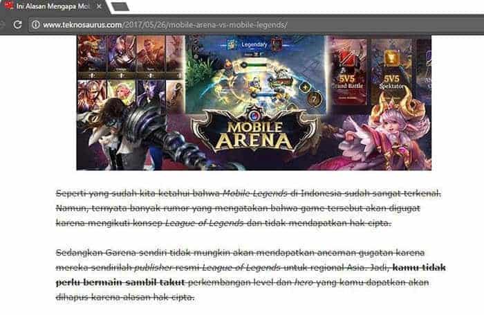 mobile legends hoax hak cipta teknosaurus artikel