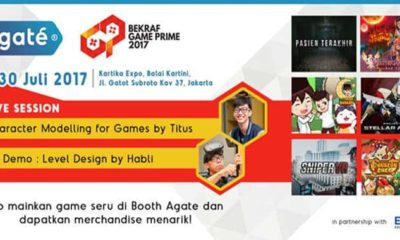 bekraf game prime 2017 agate studio booth