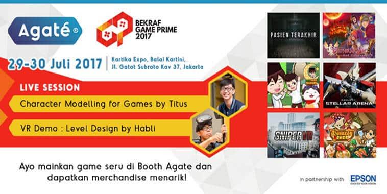 bekraf game prime 2017 agate studio booth