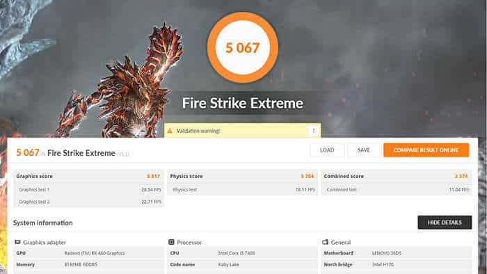 lenovo y720 cube review fire strike extreme