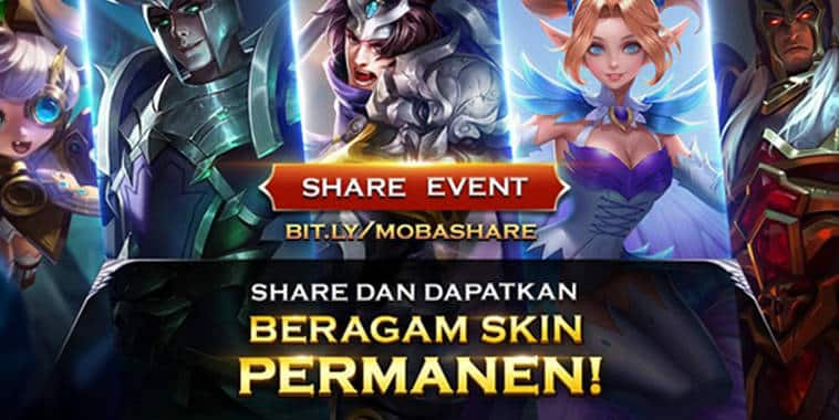 mobile arena share event permanent skin