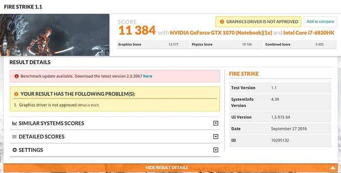 asus rog g752vsk benchmark