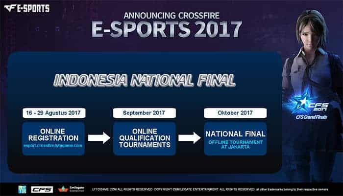 crossfire stars 2017 indonesia national finals schedule