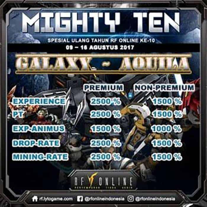 rf online indonesia mighty ten galaxy aquila