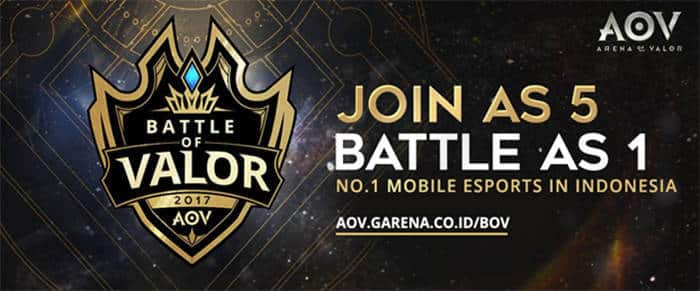 arena of valor battle of valor join as 5 battle as 1