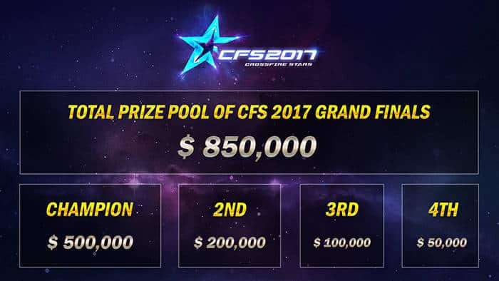 crossfire stars 2017 grand finals total prize pools