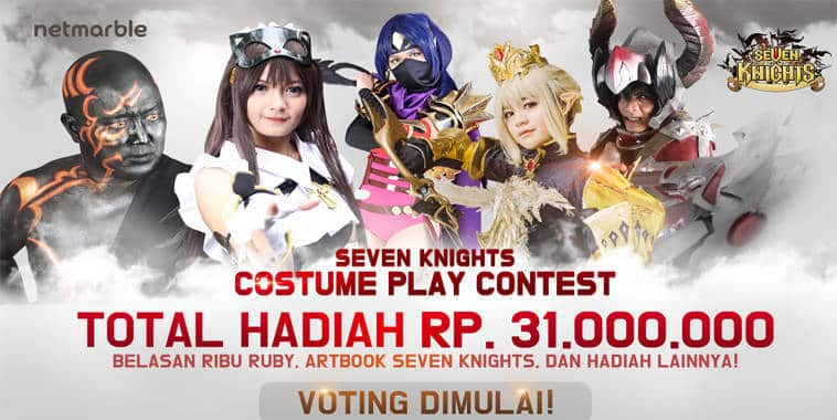 seven knights costume play contest ii voting