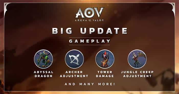 arena of valor big update gameplay desember 2017