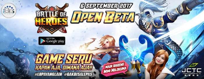 battle of heroes resmi dirilis 6 september 2017
