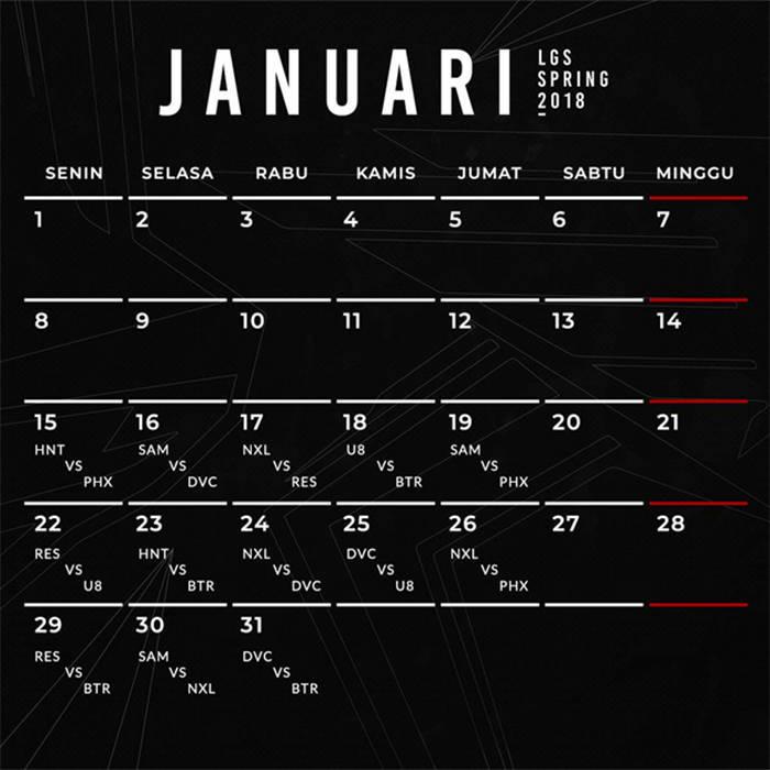 lgs spring 2018 jadwal januari 2018