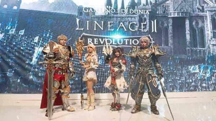 lineage 2 revolution indonesia event showcase cosplayer