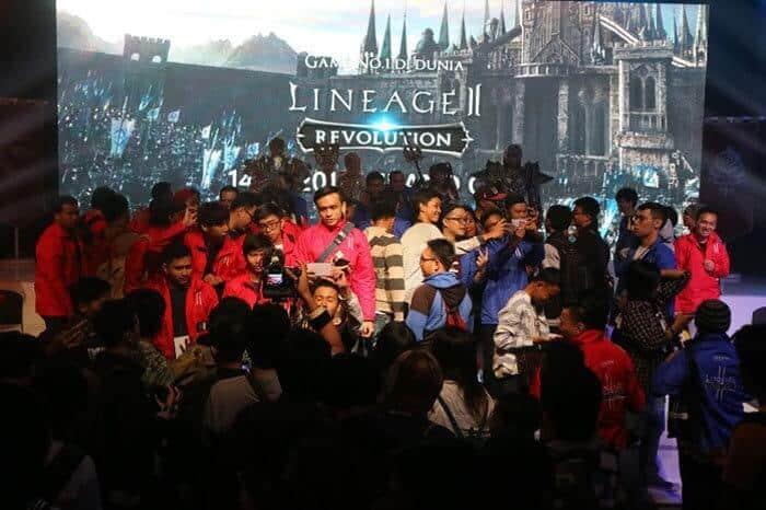 lineage 2 revolution indonesia event showcase sesi foto