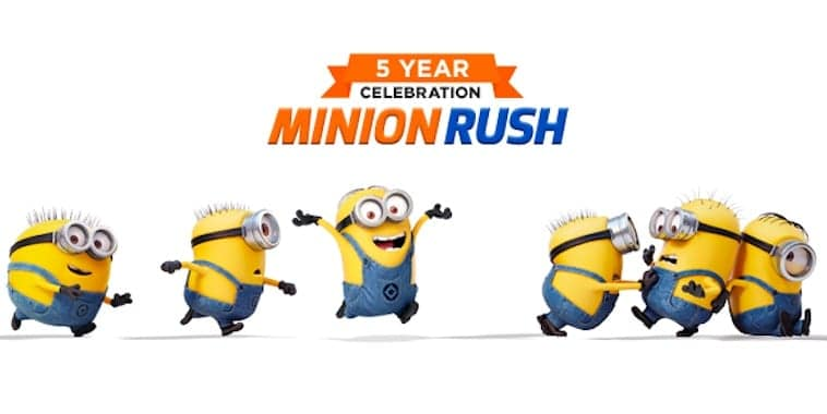 despicable me minion rush 5 years celebration