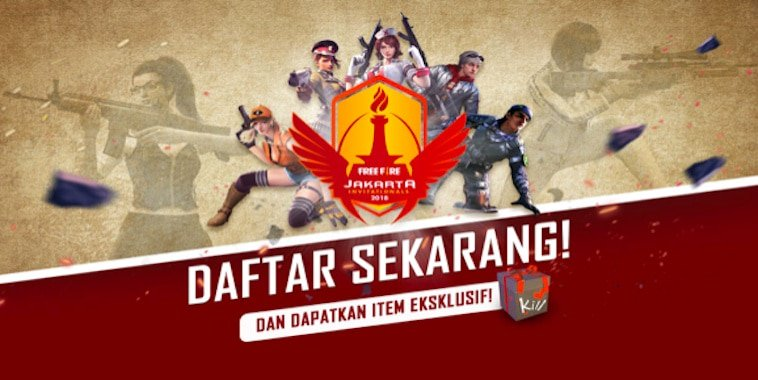 free fire indonesia jakarta invitationals 2018