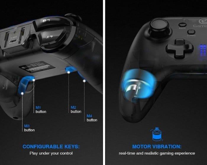 gamesir t4 configurable keys motor vibration