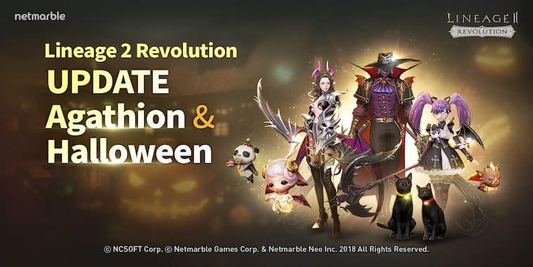 lineage 2 revolution indonesia update agathion event halloween