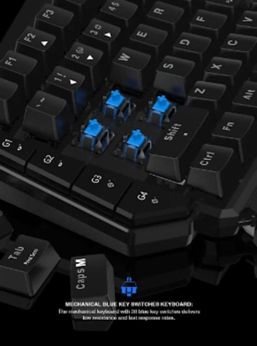gamesir vx aimswitch mechanical blue key switches keyboard