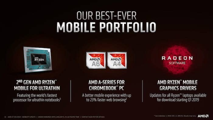 amd ces 2019 mobile portfolio