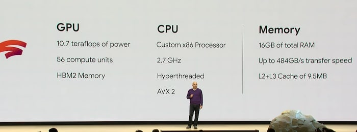 google stadia data center gpu amd presentation
