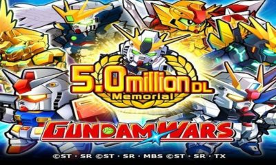 line gundam wars 5 million download