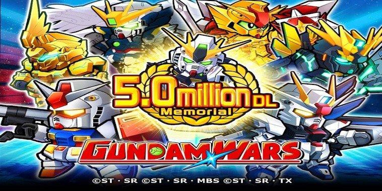 line gundam wars 5 million download