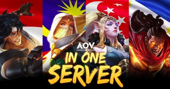 arena of valor update april in one server indonesia