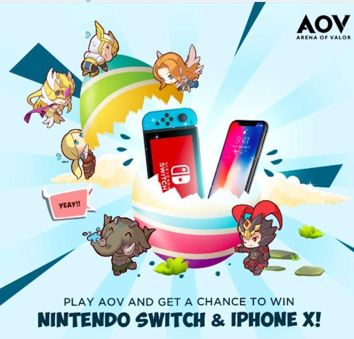 arena of valor update april 2019 nintendo switch iphone x