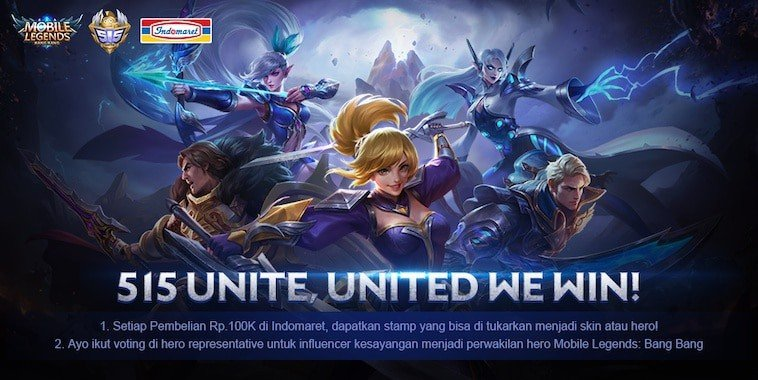 mobile legends indomaret 515 united we win