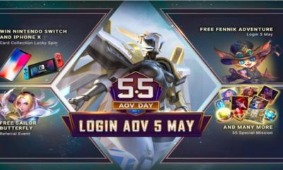 5 5 aov day login aov 5 mei 2019