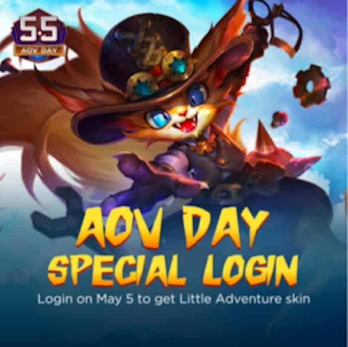 5 5 aov day special login