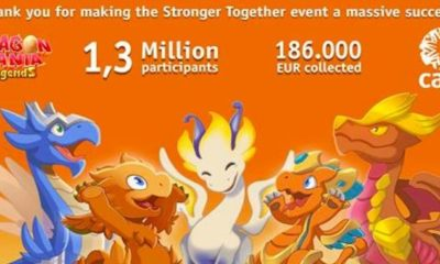 stronger together gameloft dragon mania legends care campaign thank you