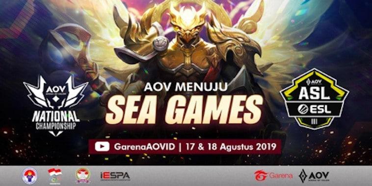 arena of valor menuju sea games 2019