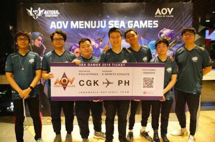 evos aov timnas aov indonesia sea games 2019
